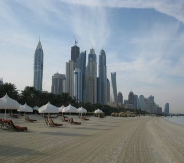 Beach Resort High Rises Skyscrapers Dubai Hotel