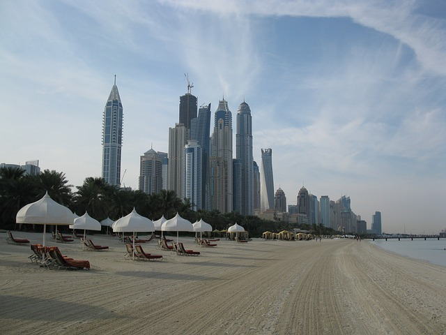 Beach Resort High Rises Skyscrapers Dubai Hotel