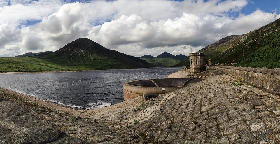 Sky Silent Valley Ireland Scenic Dam Belfast Uk